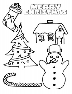 Free coloring pages for christmas parties