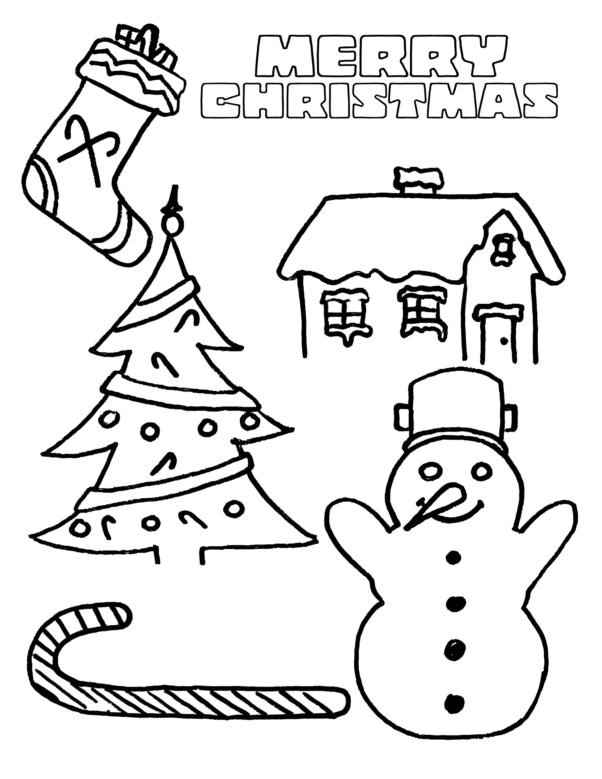 free christmas coloring page for kids