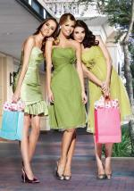 A Variety of Green Shades Bridesmaid Dresses