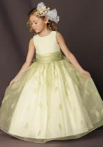 Light Sage Green Flower Girl Dress