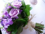 Purple and Green Rose Bouquet