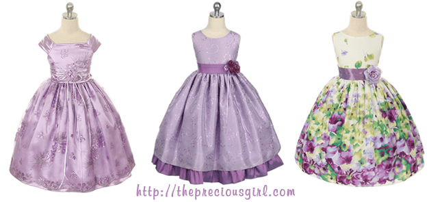 Violet Purple Flower Girl Dresses from Precious Girl