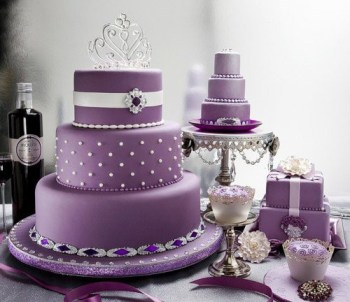 Beautiful African Violet Wedding Cakes