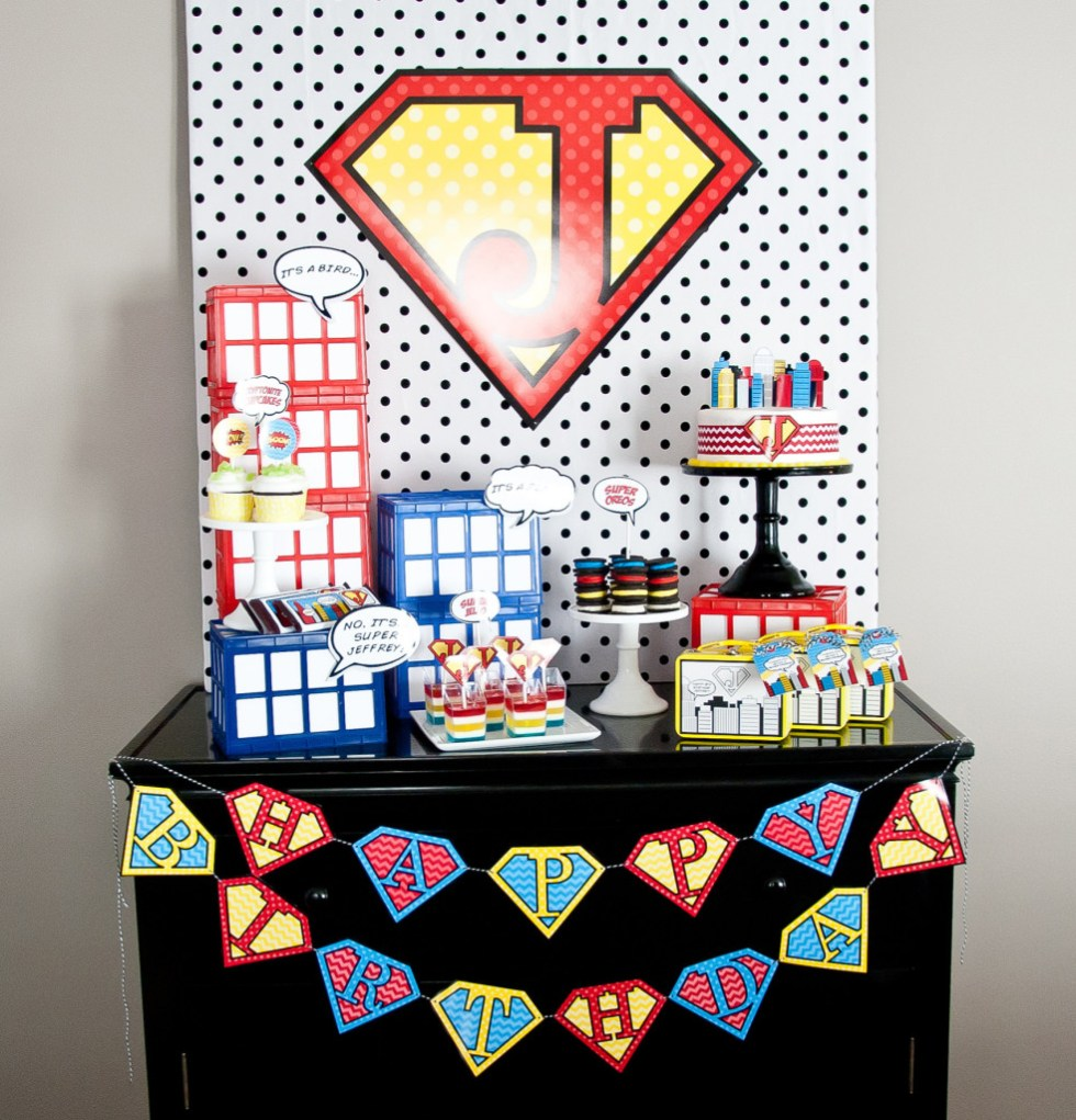 super hero boys birthday party