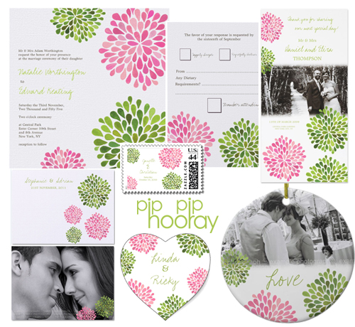 Watercolor Floral Spring Wedding Stationery Sets