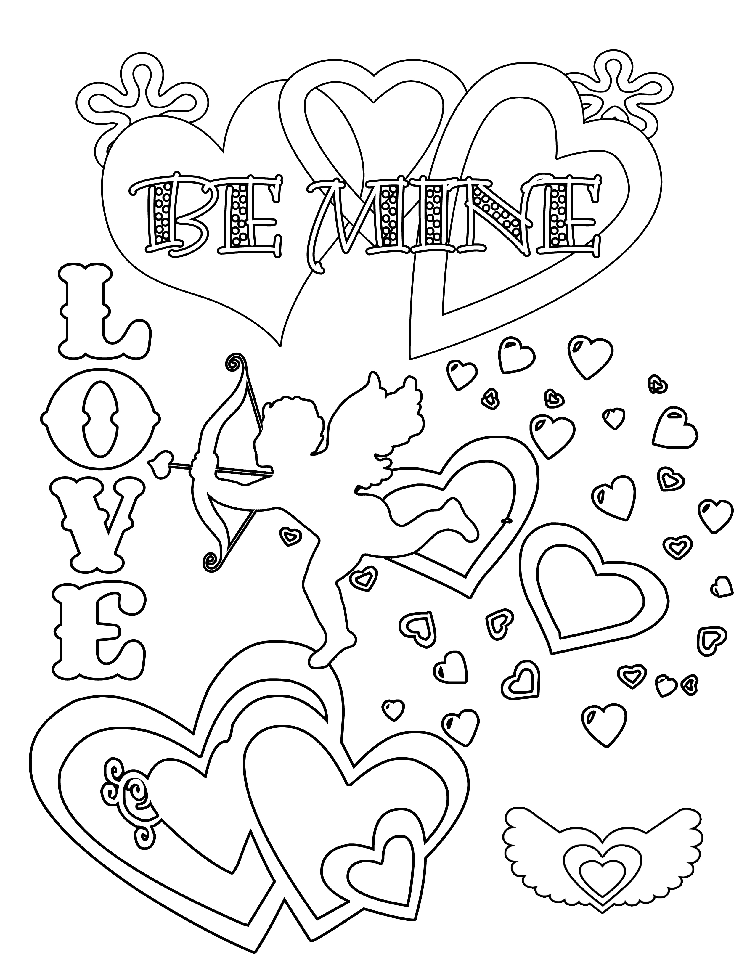Party Simplicity Free Valentines Day Coloring Pages And