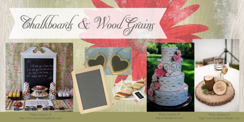 Rustic Bridal Shower Decor DIY Decorations Chalkboards Wood Grains