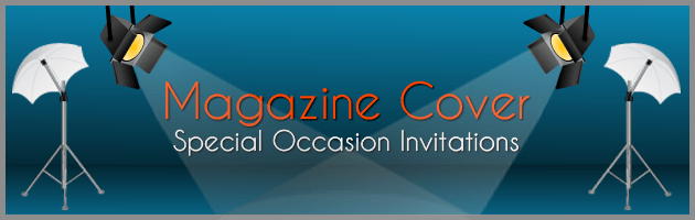 magazine cover style invitations for special occasions