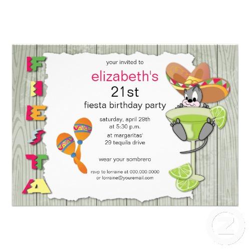 Colorful Funny Fiesta Birthday Invitation