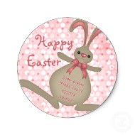 Cute bunny rabbit happy Easter stickers