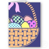 Easter basket with eggs greeting card