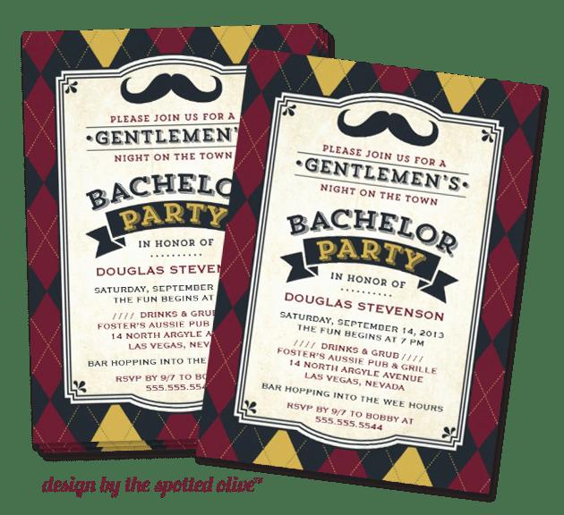 mustache invitation design | mustache trend