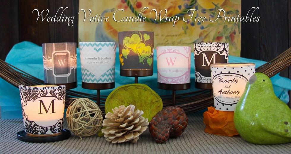 Free Printables Wedding Votive Candle Wraps