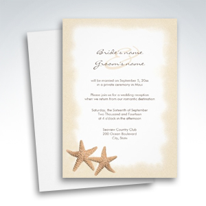 Beach Wedding Reception Only Invitations