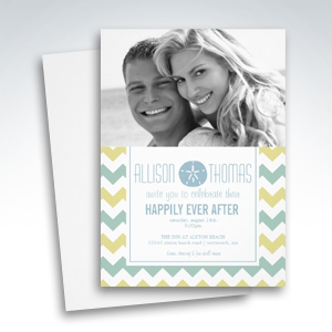 Photo Wedding Reception Only Beach Theme Invitations