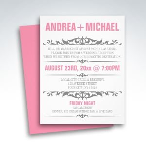 party simplicity reception only invitations party simplicity