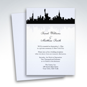 Reception Only New York Skyline Wedding Invitations