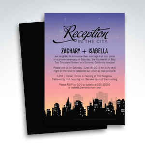 Reception in the City Wedding Reception Only Invitations