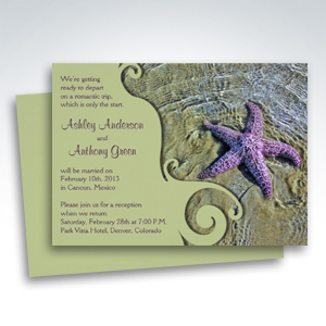 Starfish Beach Post Wedding Reception Only Invitations