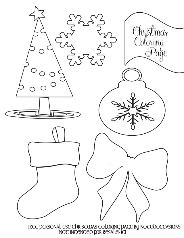 Party Simplicity » Free Christmas Coloring Pages to Print
