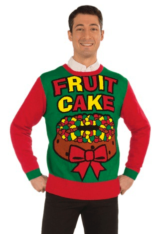 Fruit cake ugly Christmas sweater