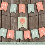 Hot Air Balloon Birthday Banner Comp