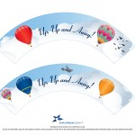 Hot Air Balloon Cupcake Wrapper Printable