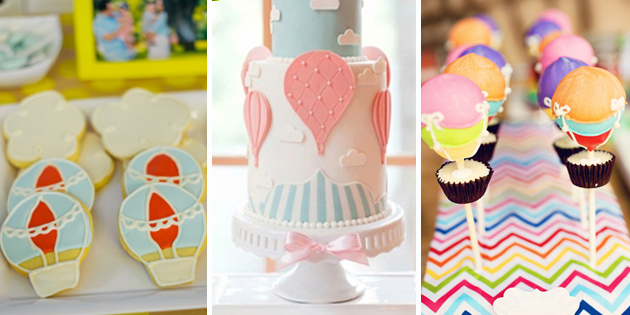 Hot Air Balloon Birthday Party Desserts