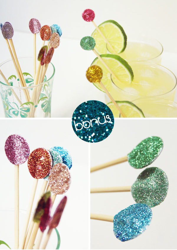Glitter Dot Sparkle Swizzle Sticks Tutorial