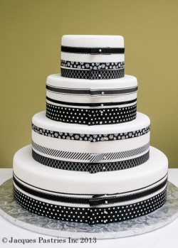 black-white-polka-dot-wedding-cake-jacques-pastries