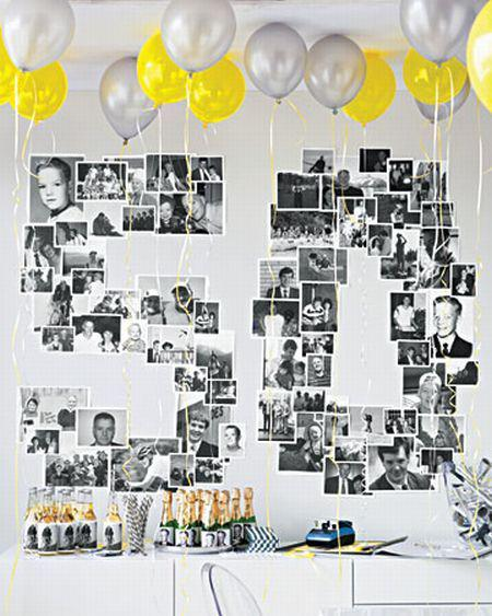 Through the years photo wall decoration
