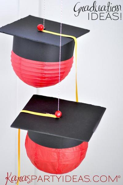graduation hat lanterns