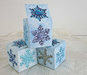 Snowflake Party Favor Box Printable