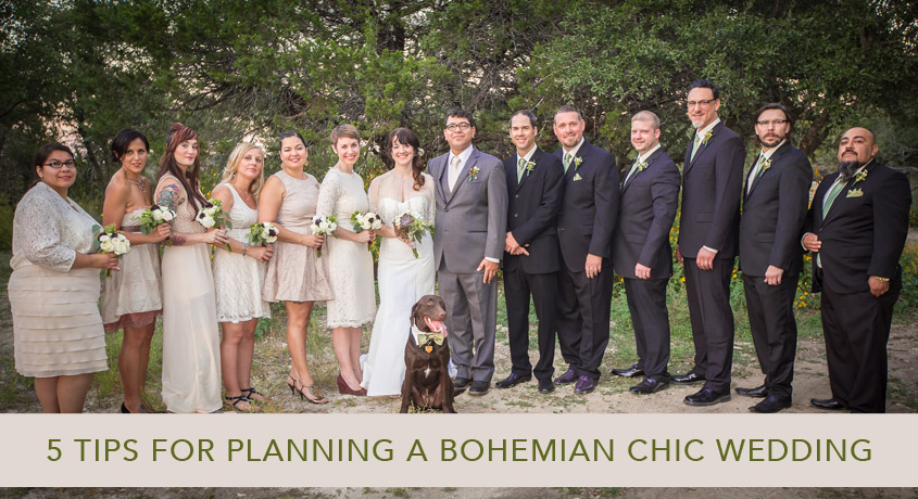 5 tips for planning a boho chic wedding