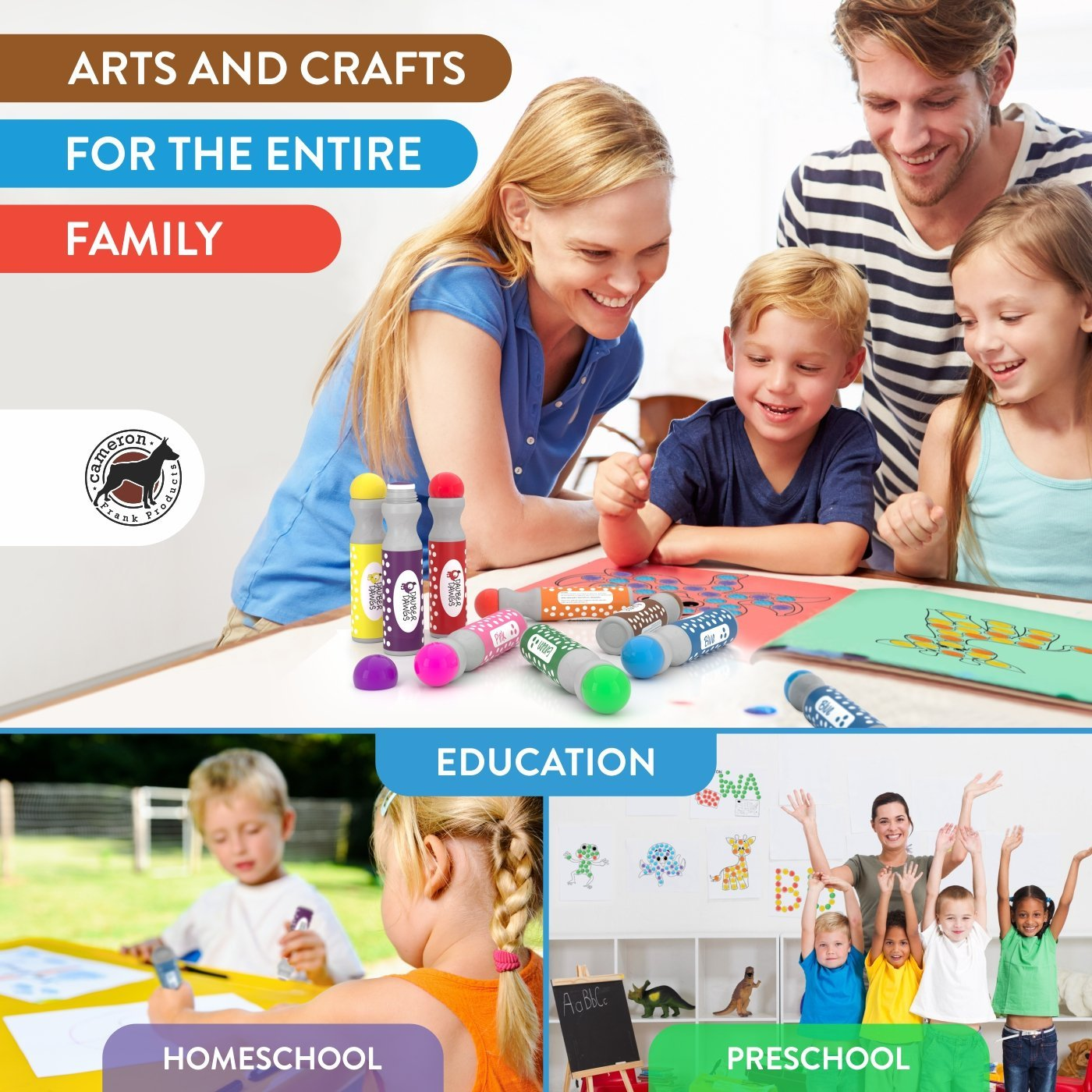 8 Pack Washable Dot Markers Bingo Daubers Dabbers Dauber Dawgs Kids Toddlers Preschool