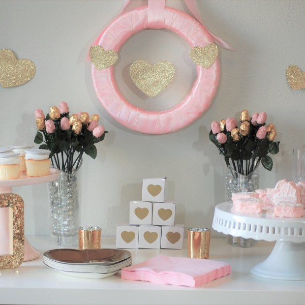 Pink & Gold Valentine Party {Styled Shoot}