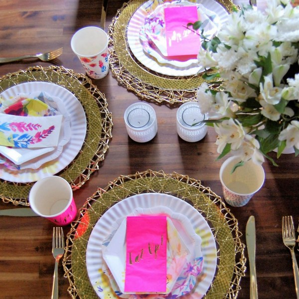 Modern Floral Baby Shower (or any occasion)