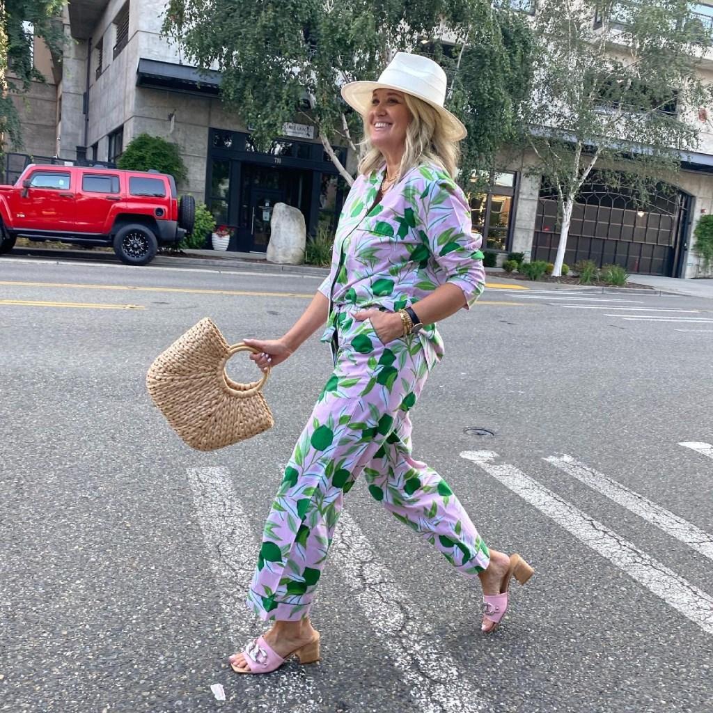 Print Fresh lime pajamas