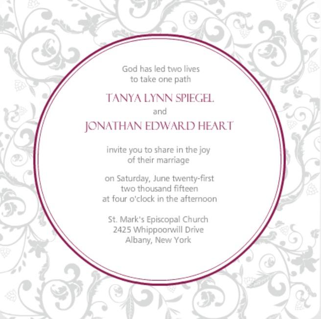 wedding invitation wording ideas from