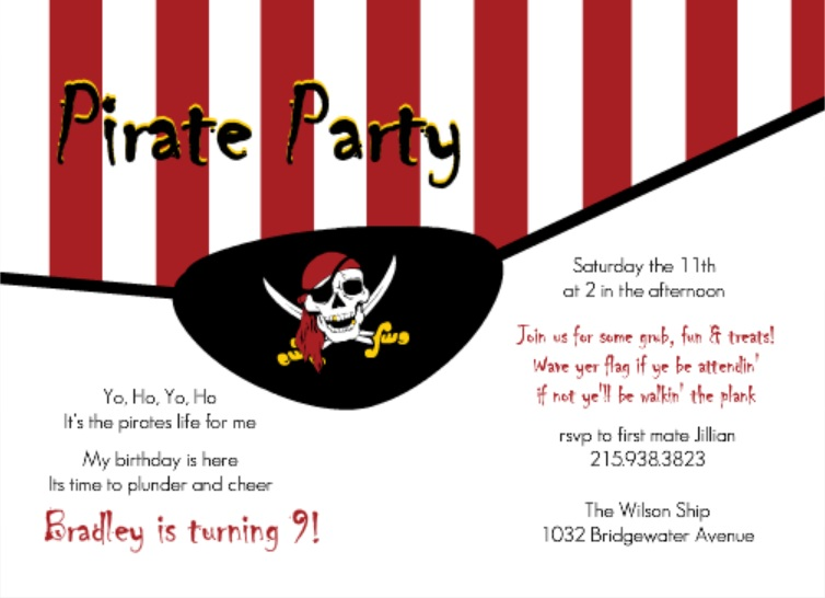 pirate party menu ideas for kids from