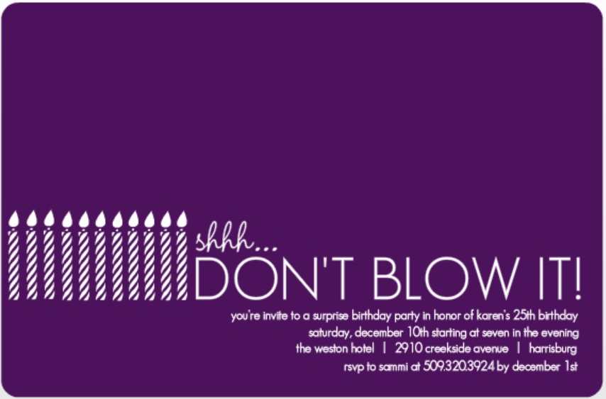 Surprise Party Invitation Wording Ideas From Purpletrail