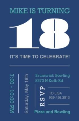 18th birthday invitations from purpletrail