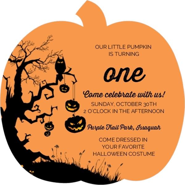 1st birthday pumpkin party ideas