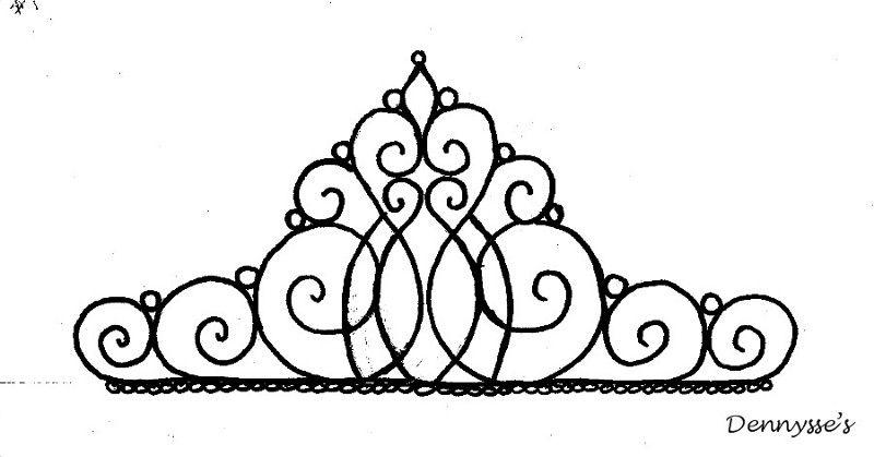modele couronne princesse pattern