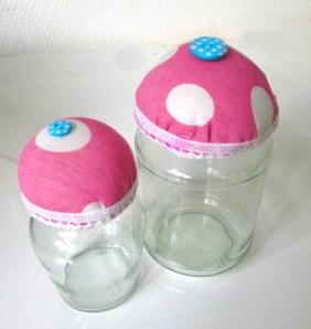 Cupcake Jars Set Pink