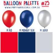 Helium Balloons Singapore Party Inspiration Colour Palette by Wholesale Centre
