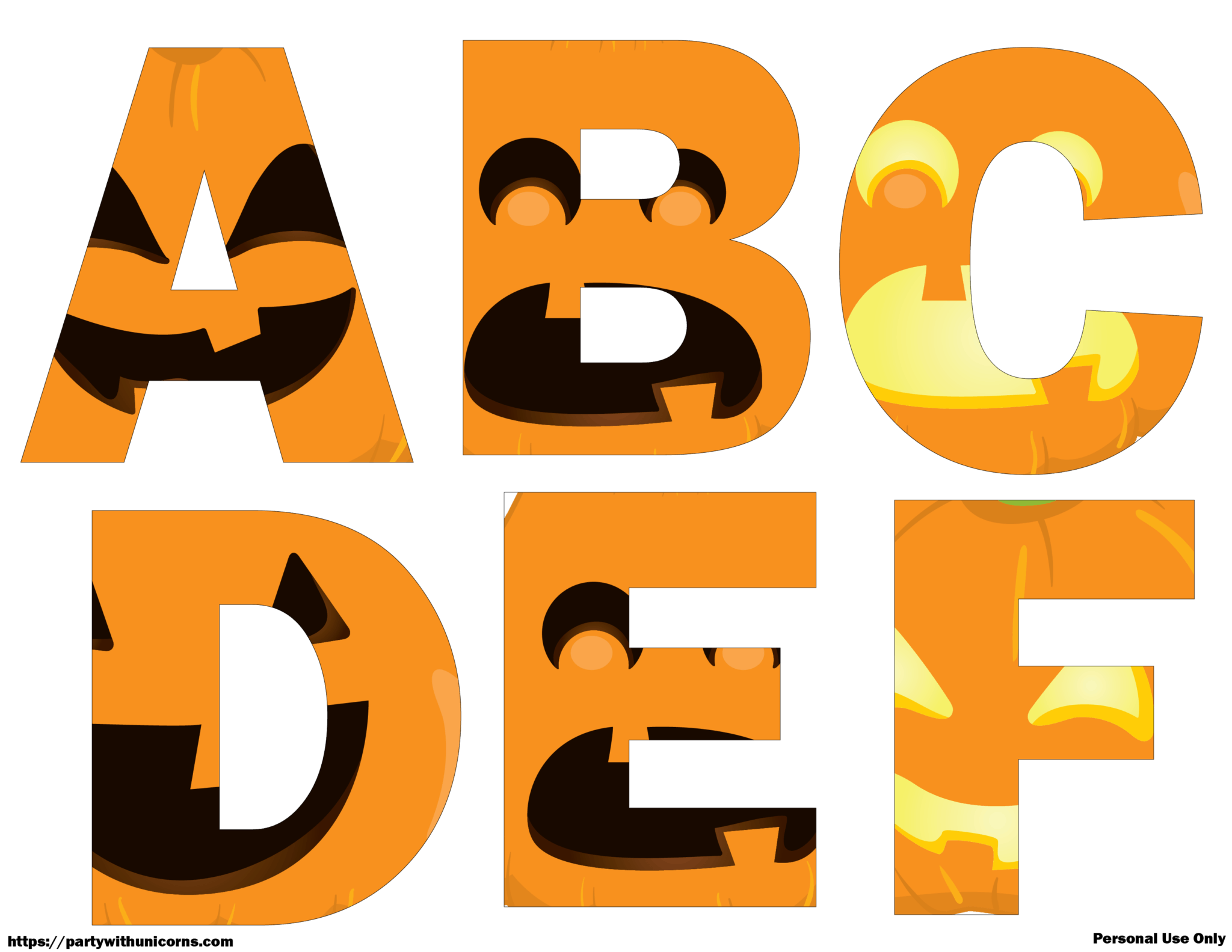 Halloween Letters Printable