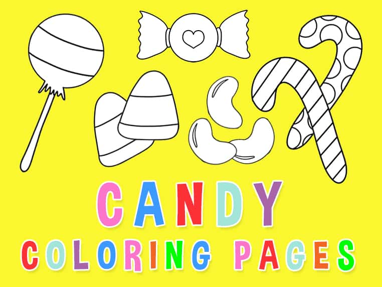 Candy Coloring Pages Free Download Party With Unicorns