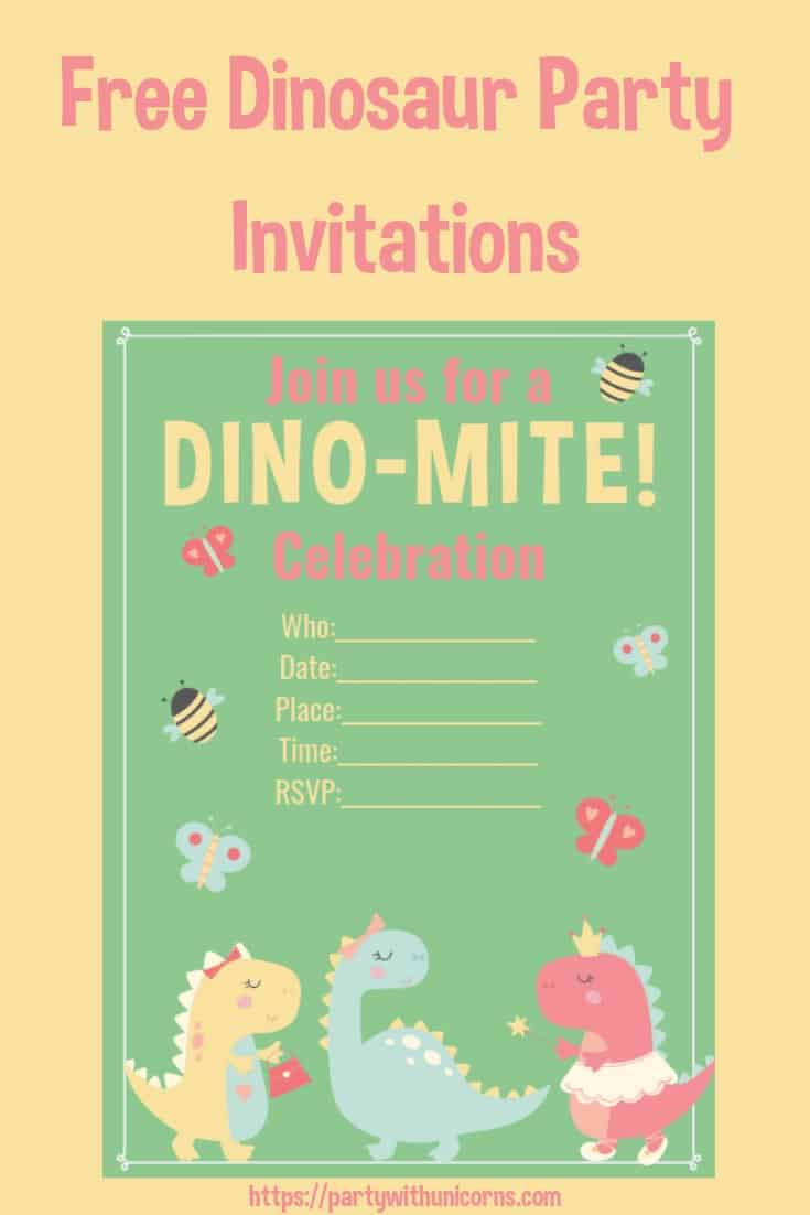 super cute girls dinosaur party
