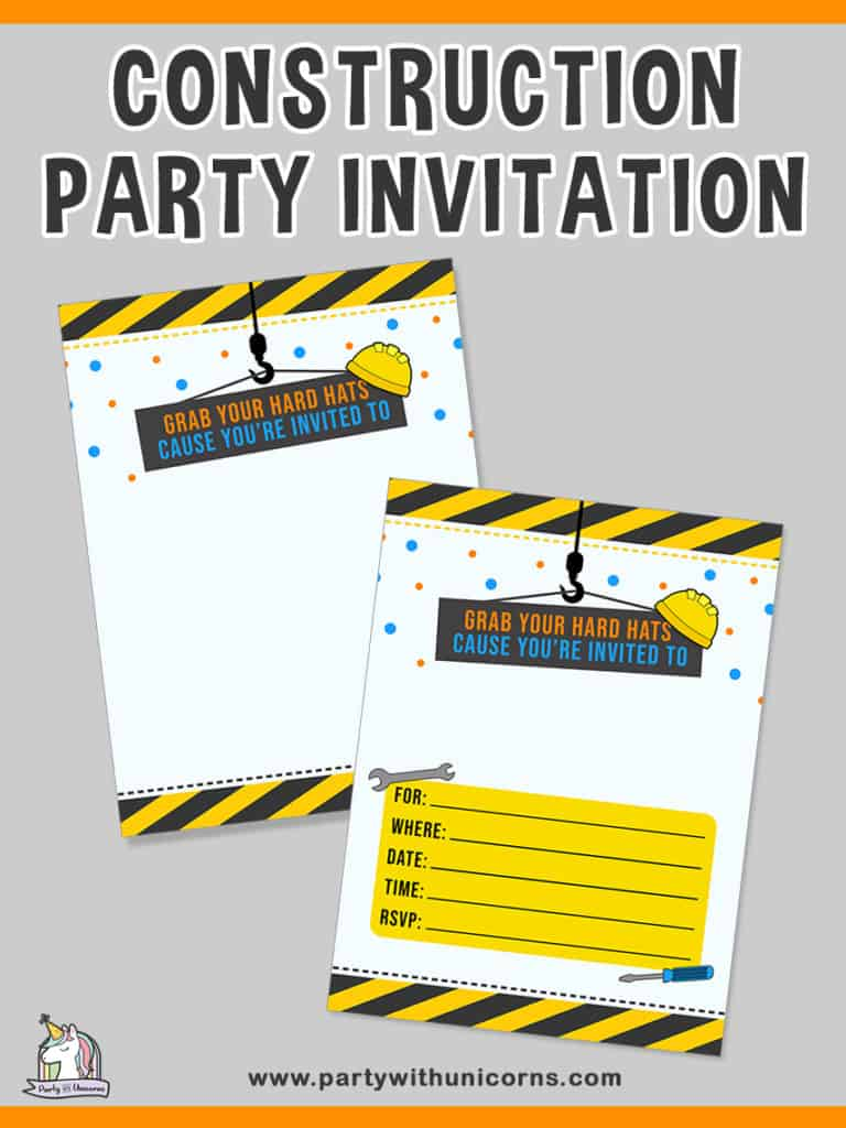 20 fun construction birthday party ideas